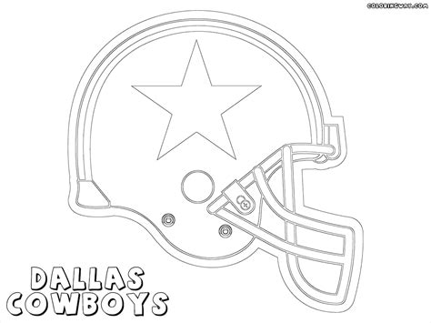 dallas cowboys helmet coloring pages