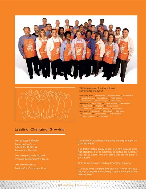 home depot annual report 2005