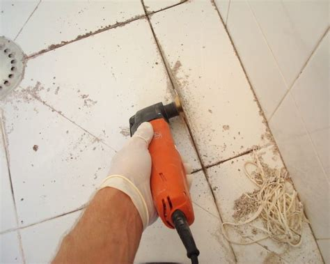 how to remove old grout from bathroom tiles how to re grout a tiled shower pro construction guide