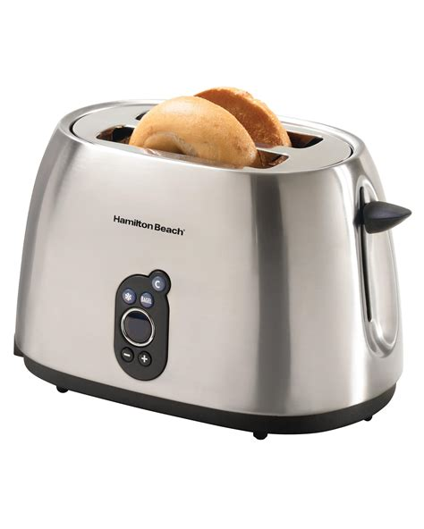 4 Slice Bagel Toaster Amazon Com Hamilton Beach 22502 Digital 2 Slice Toaster