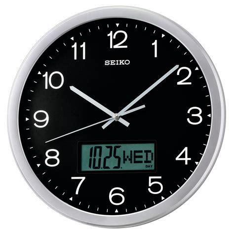 analog and digital wall clock seiko analog digital wall clock qxl007alh
