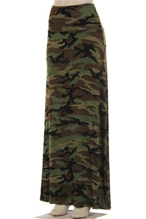 camo maxi skirt so soft and plus size camouflage