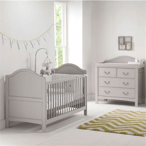 East Coast Nursery Furniture Cot Bed Dresser Toulouse 2 Grey Nursery Furniture Set