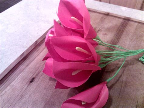 How Do Make A Paper Flower - calla paper flowers dhea fatbolous world