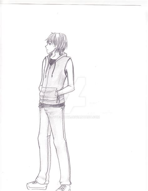 Drawing Of A Standing Up by Boy Standing Drawing At Getdrawings Free For