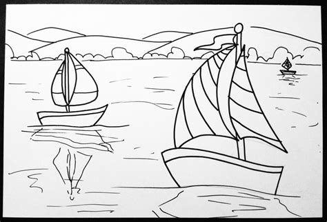 Drawing Outlines For Painting by Space And Claude Monet Sailboat Lesson Create With Me
