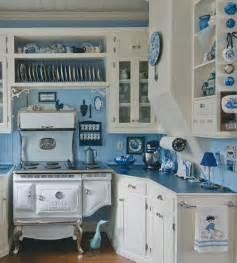White Blue Kitchen Kitchen Cool Blue White Kitchen Design Idea With White