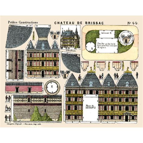 printable paper buildings 5x vintage paper model buildings printable toy sheet scans