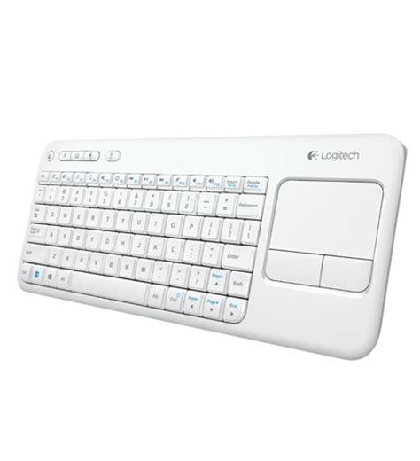 Keyboard Logitech Keyboard Touchpad K400r logitech k400r wireless touch keyboard black white villman computers