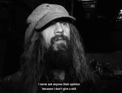 Rob Zombie Memes - rob zombie i dont give a shit gif find share on giphy