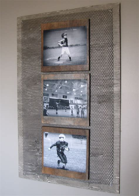 Diy Boys Room by Diy Industrial Boys Room Wall Photo Collage I Antigued An