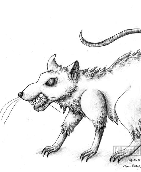 evil rat drawing