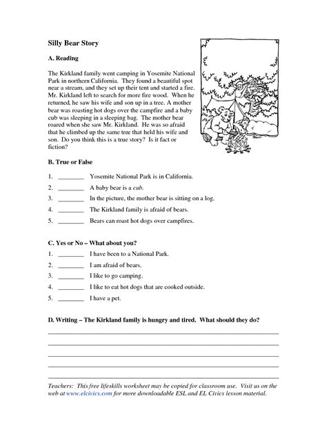 Esl Reading And Writing Worksheets by Other Worksheet Category Page 71 Worksheeto