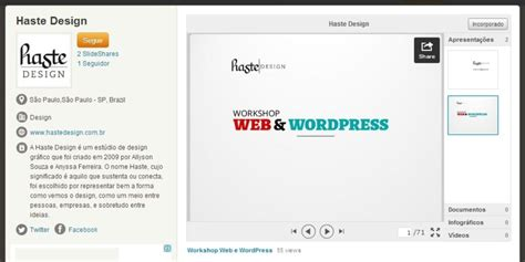 layout da web no word apresenta 231 245 es da haste design no slideshare haste est 250 dio
