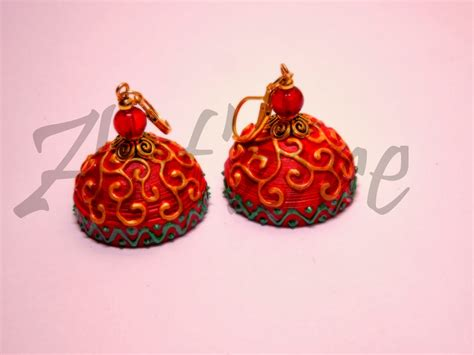 How To Make Jhumka Earrings With Paper - quilling me softly carving effect on quilled jhumkas