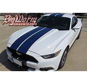 2015 Mustang Gt White Blue Stripes  Autos Post