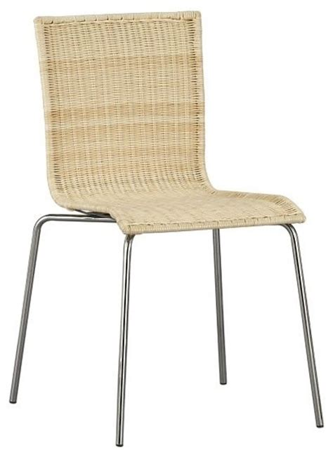eclectic dining chairs rattan dining chair with chrome legs eclectic dining