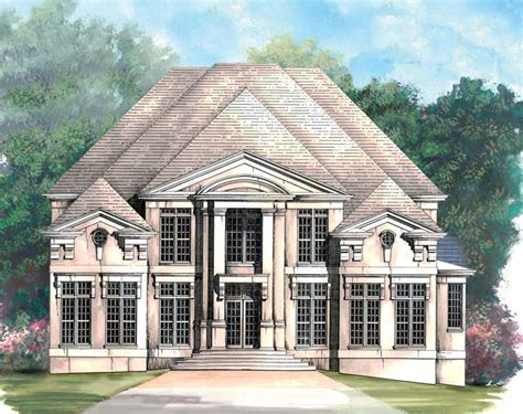 colonial greek revival house plans colonial greek revival house plan 98260