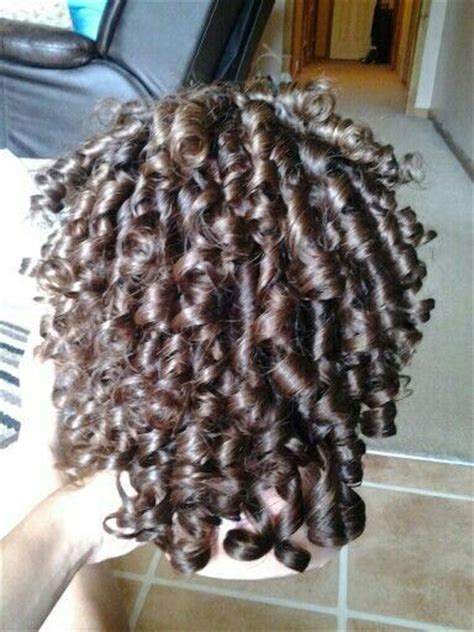 spiral perm wrap i did a spiral perm wrap to gain these curls with no heat