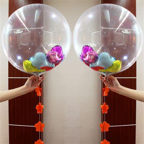 Balon Foil By Esslshop2 1 24 inch 36 inch clear foil balloons transparent aluminum balloon wedding birthday