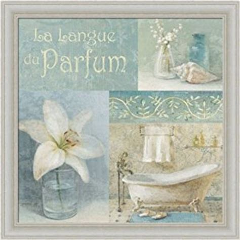 bathroom framed wall art amazon com parfum i by danhui nai blue bath room bathroom