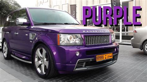 purple range rover purple range rover sport