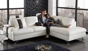 White Leather L Shape Sofa Sof 225 De Canto Moderno Ideias Decora 231 227 O Mobili 225 Rio