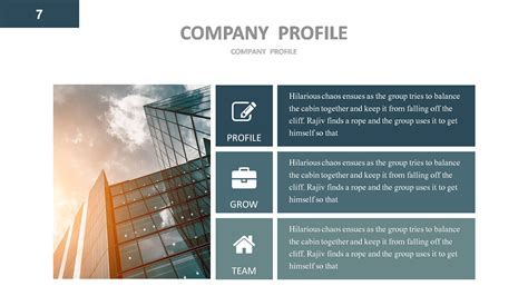 template powerpoint for company profile company profile powerpoint presentation template by