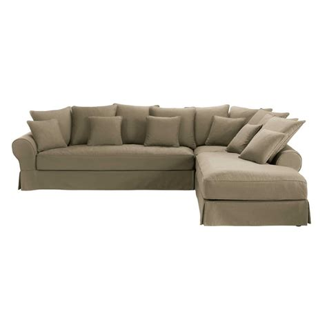 6 seater couch 6 seater taupe cotton right hand corner sofa bastide