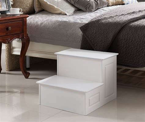 bedroom step stool kings brand large wood bedroom step stool white finish