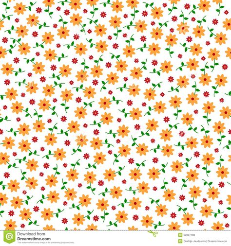 cute little pattern cute small vector flowers seamless pattern stock vector