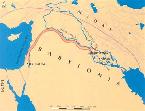 babylon and jerusalem map opinions on babylonian captivity