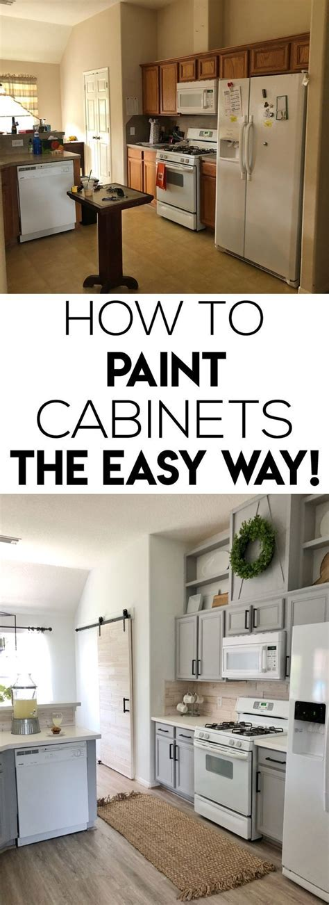 different ways to paint kitchen cabinets how to easily paint kitchen cabinet shanty s tutorials