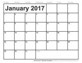 Calendar January 2017 Free January 2017 Calendar With Us Holidays Printable