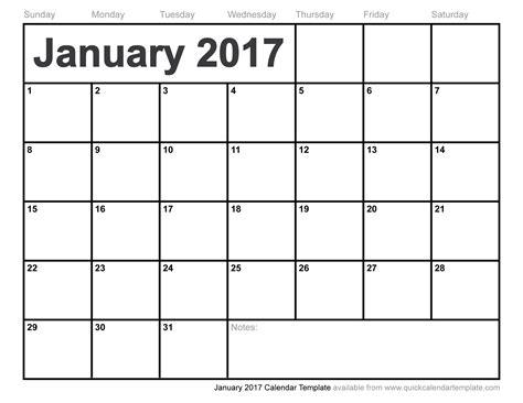 january 2017 printable calendar templates january 2017 calendar template
