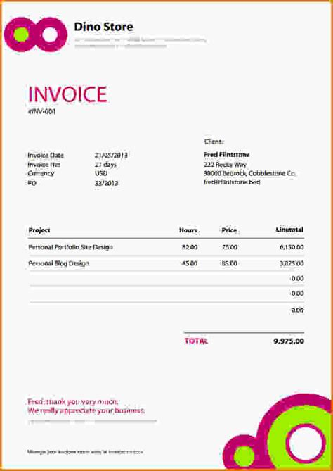 printable html invoice invoice pdf free printable invoice