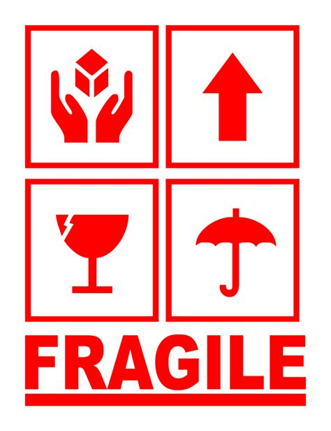 Sticker Fragile Murah Ukuran 10 X 6 Cm harga sticker fragile stiker awas barang pecah belah uk besar harga me