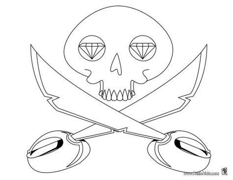 coloring pages of skull and crossbones skull and crossbones coloring pages hellokids com