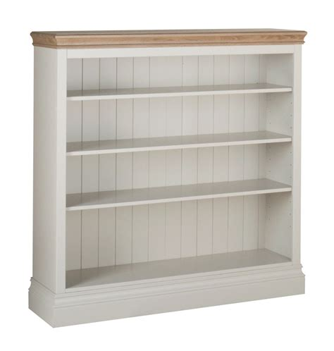 2 Foot Bookshelf Country Oak And Painted Wide 4ft Bookcase Oak Furniture Uk