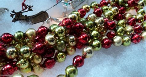 bead garland glass bead garland for tree 28 images large vintage