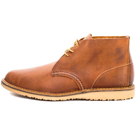 Wing Chukka wing weekender chukka mens leather copper ankle boots