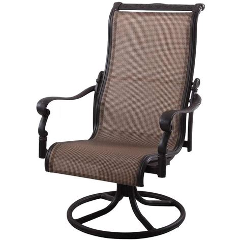 patio furniture aluminum sling rocker high back swivel