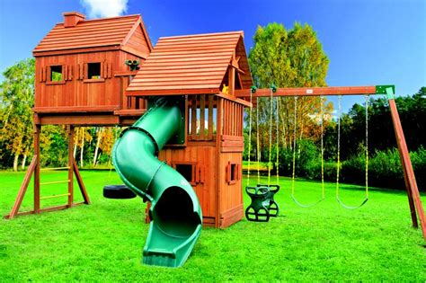 swing set with tree house pin by best in backyards on wooden swing sets pinterest