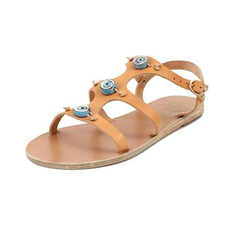 ancient sandal ancient sandals evil eye sandal in brown lyst