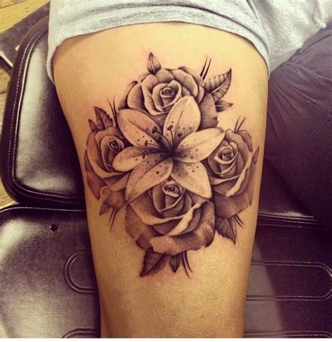 lily sleeve tattoo designs and ideas