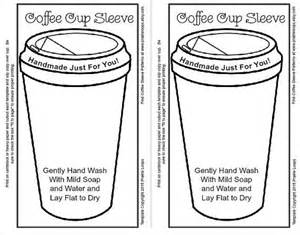 Template For Coffee Cup Sleeve by 1000 Ideas About Coffee Cup Crafts On Cup