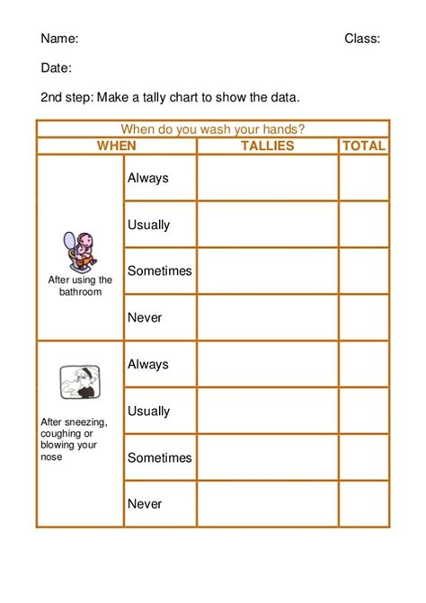 Tally Worksheets by 100 Second Grade Tally Worksheets Favourite Colour