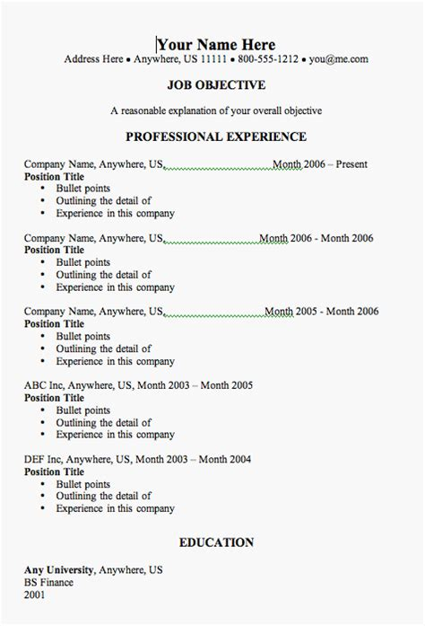 resume templates resume templates how to avoid common resume mistakes