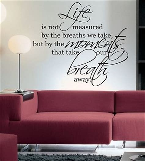 Wall Decal Quotes For Living Room by Is Not Measured By Wall Sticker Quote Living Room
