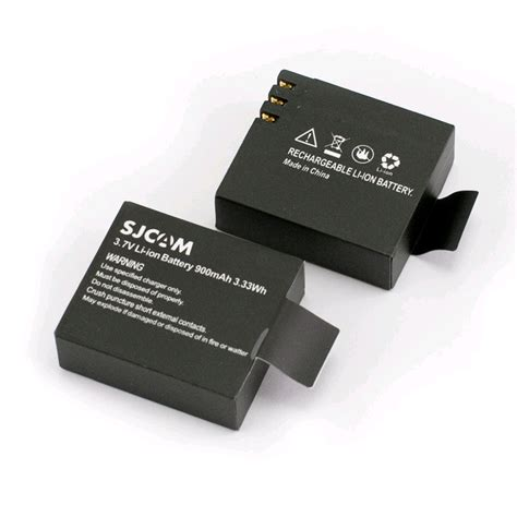 Battery Sjcam by Sjcam Li Ion Battery For Sj4000 Sj5000 3 7v 900mah 3
